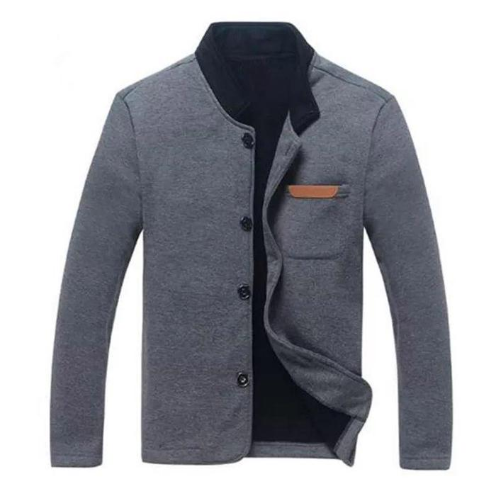 Kemeja Blazer - Sweater Jas - DRB SWEAT SHIRT DARK GREY