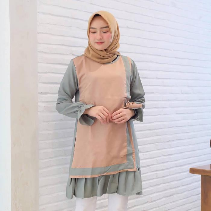 Tunik Dress Wanita Minimalis Trendy - SAR ALEA TUNIK