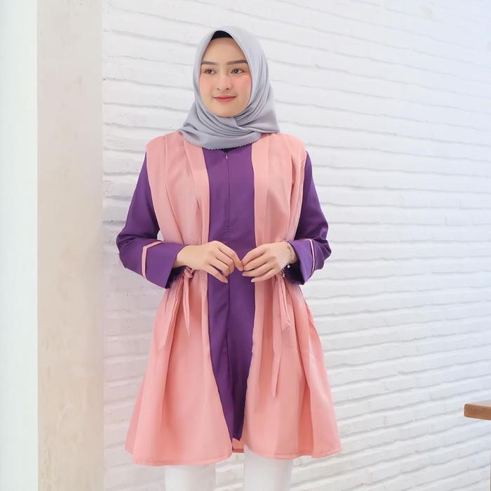 Dress Tunik Atasan Wanita Minimalis - SAR SAINY DUSTY