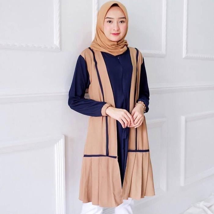Tunik Dress Wanita Minimalis Trendy - SAR NADYA MOCA